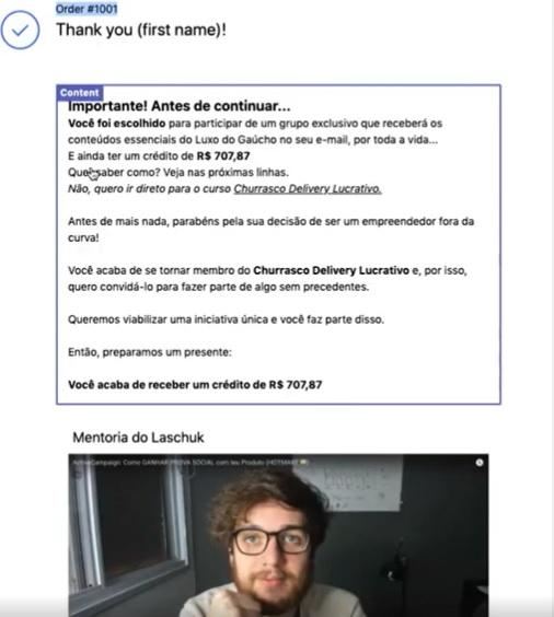 Upsell: venda 2x para a mesma pessoa no Shopify - Guilherme Laschuk