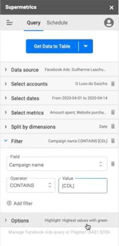 Supermetrics: Como Criar o Melhor Relatório de Facebook Ads - Guilherme laschuk