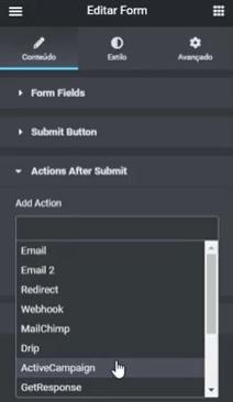 Elementor + ActiveCampaign: Como Integrar Formulários - Guilherme Laschuk